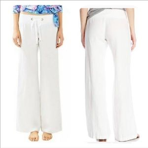 Lilly Pulitzer White Linen Beach Pants